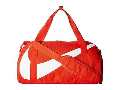 Nike Kids Gym Club Duffel Bag (Little Kids/Big Kids) (Habanero Red/Habanero Red/White) Duffel Bags