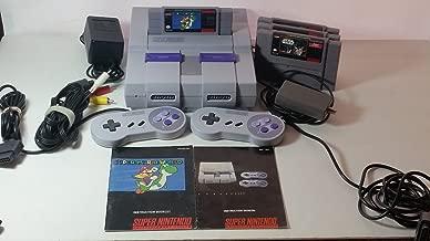 Complete Set (SNES Super NES Nintendo) Console, 2 Controllers, All Original Components, and Manuals + 4 Games