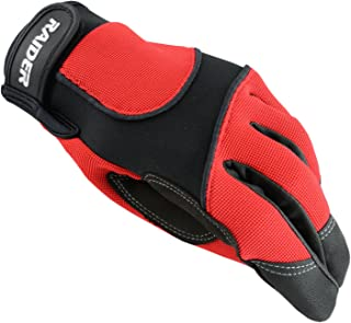Raider Unisex-Adult MX Gloves (Red,  Small)