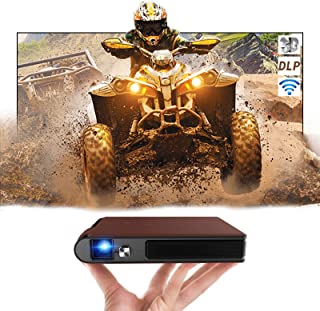 "Mini Wireless DLP Video WiFi Projector, 3600 Lumen Support 1080P 200"" Display LED Mini Projector with Zoom, Auto Keystone ..."