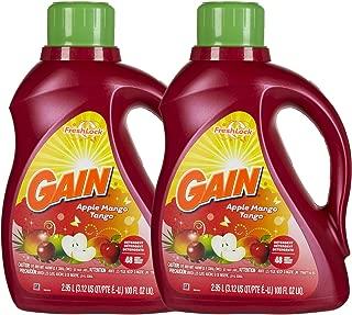 Gain Liquid Detergent - 100 oz - Apple Mango Tango - 2x Concentrated - 2 pk