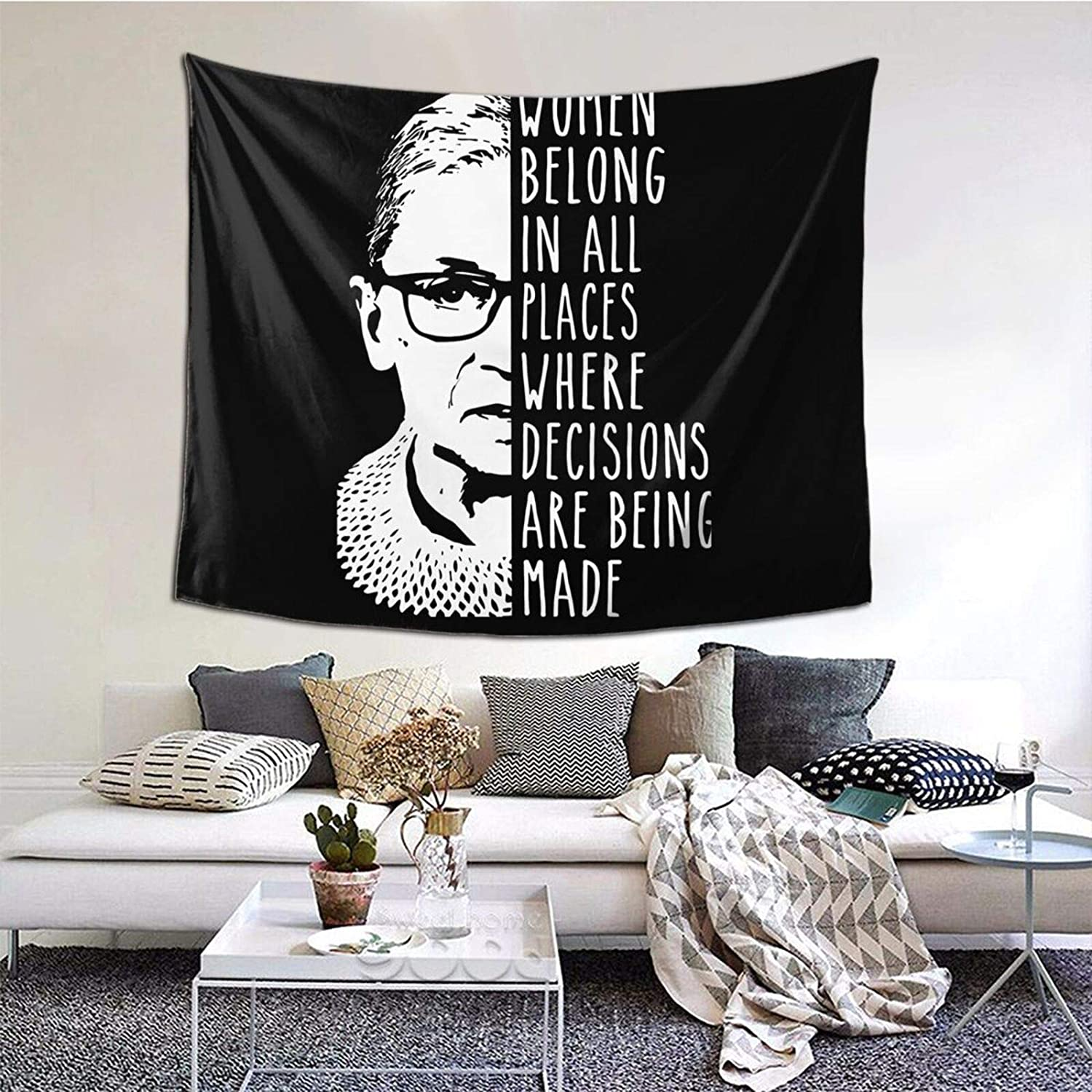 Wehoiweh Ruth Bader Ginsburg RBG Free Shipping New Size Virginia Beach Mall Hangin Wall Queen Tapestry
