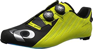PEARL IZUMI Men's PRO Leader v4 Cycling Shoe, Black/Lime, 40