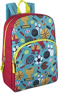 "Kids Character Backpacks for Boys & Girls (15"") with Adjustable, Padded Back Straps"