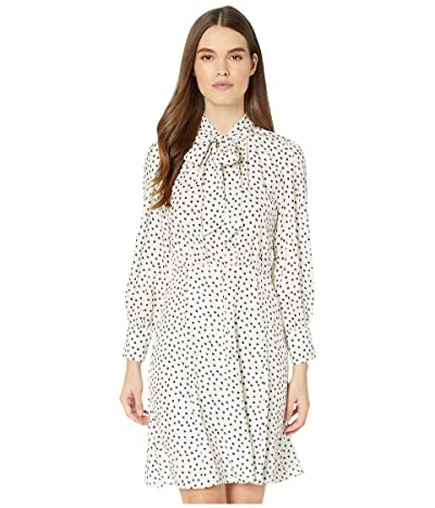 Rebecca Taylor Long Sleeve Blurry Heart Dress (Snow Combo) Women