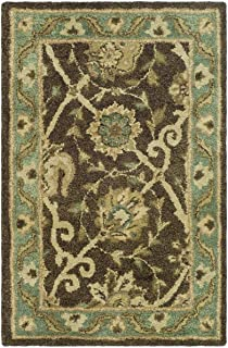 Safavieh Antiquities Collection AT21G Handmade Traditional Oriental Brown and Green Premium Wool Area Rug (2' x 3')