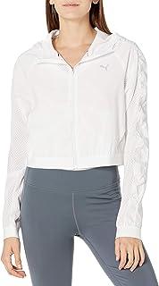 PUMA Women's BE Bold Woven Jacket, White, X-Small