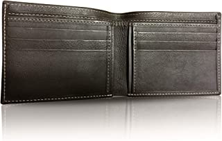 862c4e785cce GOLDFIX Genuine Leather & Hand-Stitched Men's Wallet in Brown. 100% Cow  Leather