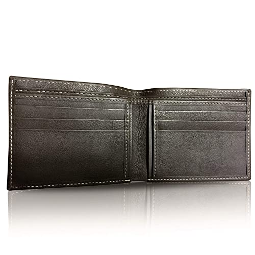 bf7097562313ec GOLDFIX Genuine Leather & Hand-Stitched Men's Wallet in Brown. 100% Cow  Leather