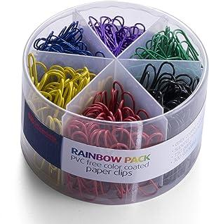 گیره های کاغذی روکش دار رنگی و رایگان PVC ، 450 گیره گیره کاغذی برای دفتر والت (97229)