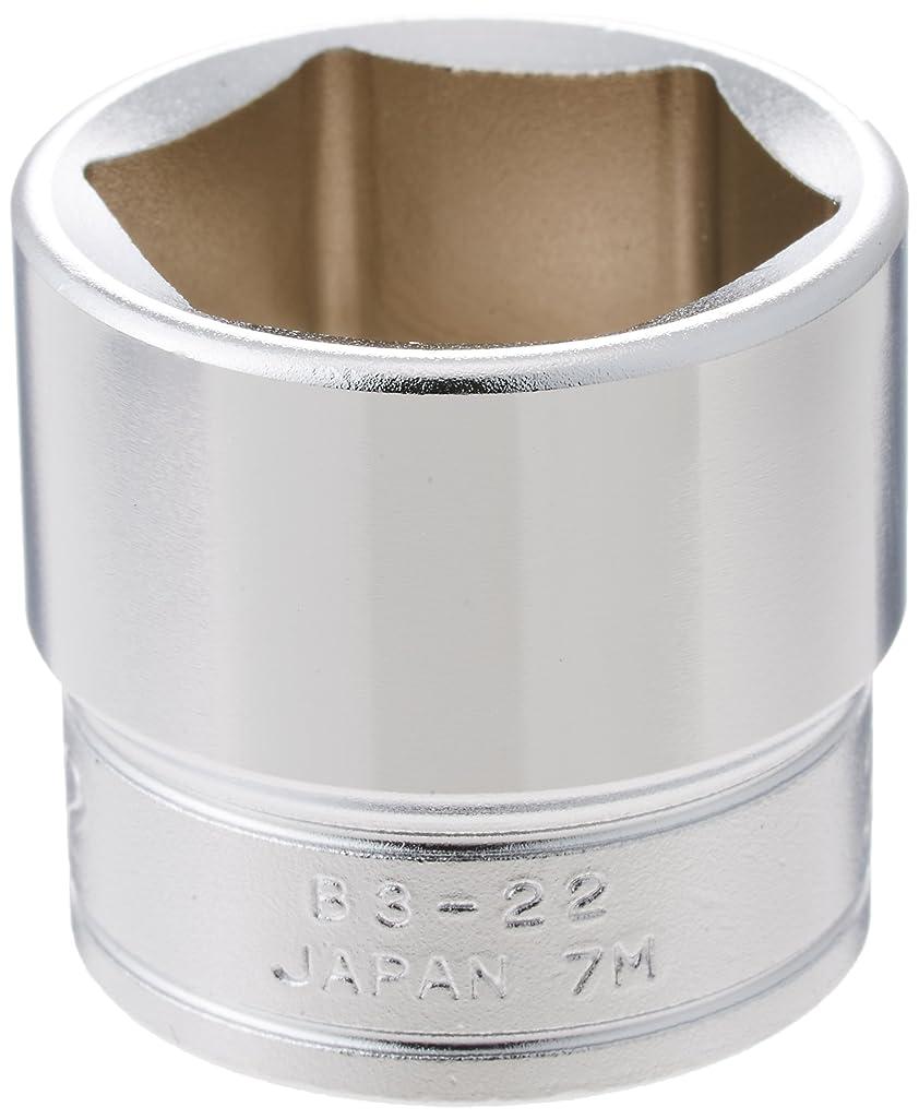 ばかげているペルー永久に京都機械工具(KTC) ソケット 6角 B322 対辺寸法:22×差込角:9.5×全長:28mm