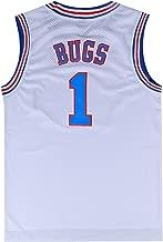 Mens Basketball Jersey Bugs Bunny #1 Space Jam Jersey White/Black