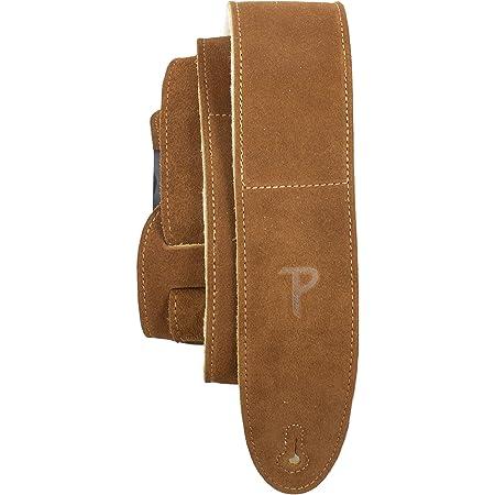 Perri's Leathers Ltd. - Sangle de Guitare - Longueur Ajustable - Rembourrage en Peau de Mouton - Beige Naturel - Fabriquée au Canada (DL325S-200)