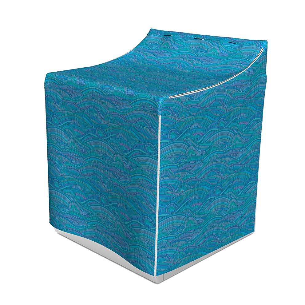 Ambesonne Sea Washer Cover, Unusual Pattern with Waves River Ocean Seascape Inspired Artwork, Suitable for Dryer and Washing Machine, 29