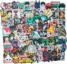 Meet Holiday My Hero Academia Sticker 100 PCS PVC Waterproof Stickers for Laptop, Notebooks, Car, Bicycle, Skateboards, Luggage Decoration (My Hero Academia)