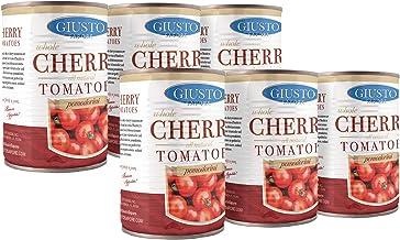 Giusto Sapore All Natural Italian Cherry Tomatoes Pomodorini -14oz- Premium Gourmet Gluten Free Fat Free Non GMO Brand - I...