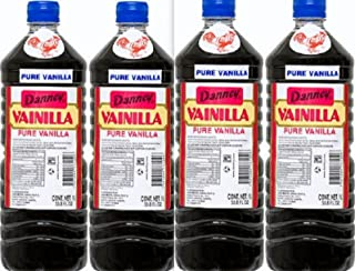 4 X Danncy Dark Pure Mexican Vanilla Extract From Mexico 33oz Each 4 Plastic Bottle Lot Sealed