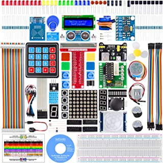 SUNFOUNDER Raspberry Pi Starter Kit for Pi 4 B 3 B+ 400 Support Python C, 210 items, 40 Projects, Learn Electronics and Pr...
