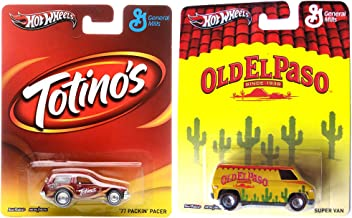 Hot Wheels Totino's & Old El Paso 2 Car Set Pop Culture General Mills Pacer & Van in Protective Cases