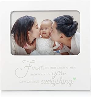 Tiny Ideas Frame, 'First We Had Each Other, Then We Had You, Now We Have Everything' Sentiment, White