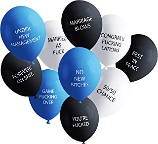 Funny Adult Balloons for Bachelor Party | Hilarious NSFW Gag Gift for Parties (20 Pack) | Naughty Abusive Balloons by Shitty Merch
