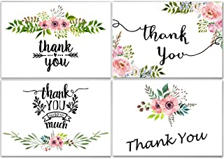 100 Thank You Cards Wedding - Bulk Thank You Cards, Baby Shower Thank You Cards, Blank Cards with Envelopes, Thank you Not...