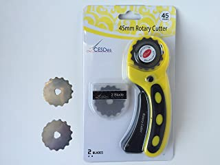 Crochet or Ribbon Edge Skip Stitch Rotary Blades and Cutter by CESDes for professional edge finishes (2)