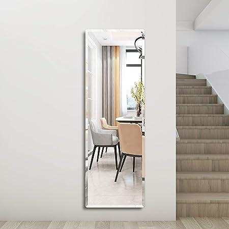 Honyee Wall Mounted Mirror Contemporary Beveled Full Length Mirror Rectangular Frameless Mirror Door Mirror 20 X 60 Kitchen Dining