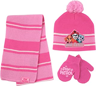 Nickelodeon Paw Patrol Hat, Scarf and Gloves or Mittens Cold Weather Set, Pink, Toddler Girls, Ages 2-4