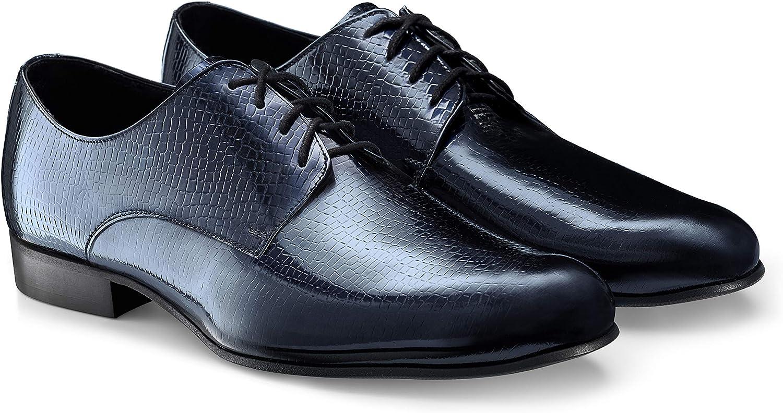 Boldini Men's Oxford Dress Shoes Lace Up Formal Leather Francesco