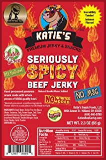 Seriously Spicy Beef Jerky-GLUTEN FREE - No Preservatives, Nitrites, or MSG