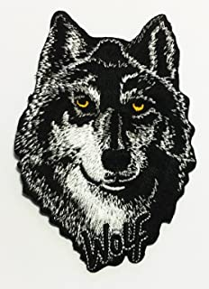 Realistic Wolf Embroidered Sew Iron on Patch p#106