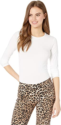 Soft Touch Flat-Edge Long Sleeve Crew Neck Top