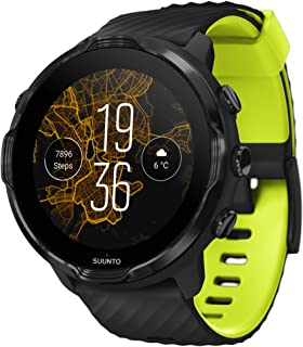 Suunto 7 Smartwatch with Versatile Sports Experience and Wear OS by Google,BLACK LIME