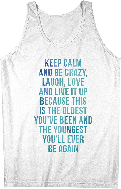Keep Calm And Be Crazy Love 引用する テキスト やる気を起こさせます 男性用 Tank Top Sleeveless Shirt