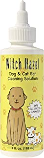 Immediate, Natural Relief with Witch Hazel Dog and Cat Ear Cleaner. Quickly Heals Pet Ear Infections in 3-5 Days. 4 oz. Easy, 1-Step Cleaning Solution Replaces Vet Visits, Cortisones & Antibiotics