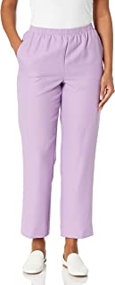 Alfred Dunner Women's Plus Size Classic FIT Medium Length Pant, Wisteria, 18W