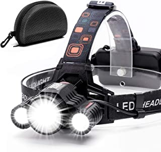 Headlamp,Cobiz Brightest High 6000 Lumen LED Work Headlight,18650 USB Rechargeable IPX4 Waterproof Flashlight with Zoomabl...