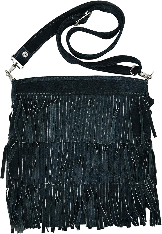 Smart Range New Ladies 2021 Messenger Bag Tassel Fringe Cross Body Women Shoulder Handbag Real Suede Leather