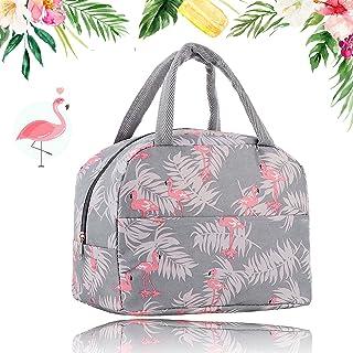 JINCHENG Sac Isotherme sac de rangement des aliments Portable Lunch Bag à Déjeuner Waterproof avec Feuille d'Aluminium Piq...