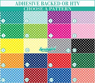 SMALL POLKA DOTS PATTERN #1 Basic Colors Heat Transfer or Adhesive Vinyl CHOOSE YOUR MATERIAL and PATTERN!