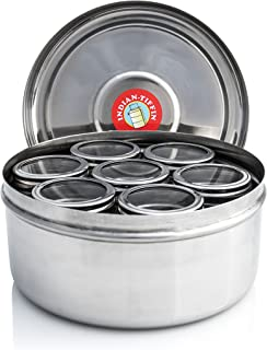 Masala Dabba - 7 Pots with Individual Clear See Through Lids