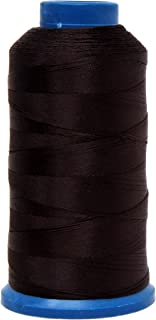 Mandala Crafts Bonded Nylon Thread for Sewing Leather, Upholstery, Jeans and Weaving Hair; Heavy-Duty; 1500 Yards Size 69 T70 (Chocolate Brown)