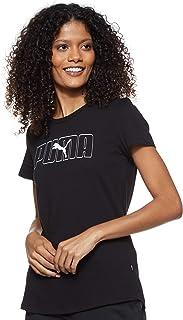 Puma Women's Rebel Graphic T-shirt, Black, Large