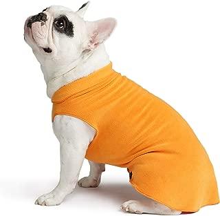 Gold Paw Stretch Fleece Dog Coat – Soft, Warm Dog Clothes, Stretchy Pet Sweater – Machine Washable, Eco Friendly – All Season – Sizes 2-33, Pumpkin Orange, Size 6