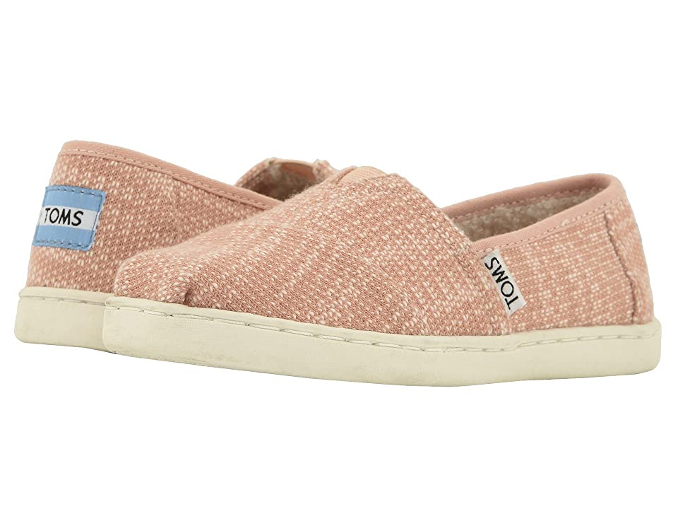 TOMS Kids Alpargata (Little Kid/Big Kid) (Rose Cloud Oblique Woven/Faux Shearling) Girl