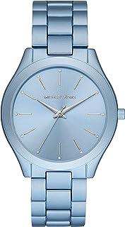 Women's Slim Runway Quartz Watch with Metal Strap, Blue, 20 (Model: MK4548)
