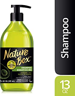 Nature Box Shampoo - for Deep Hair Repair, with 100% Cold Pressed Avocado Oil, 13 Ounce