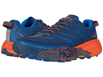 Hoka One One Speedgoat 4 (Majolica Blue/Mandarin Red) Men
