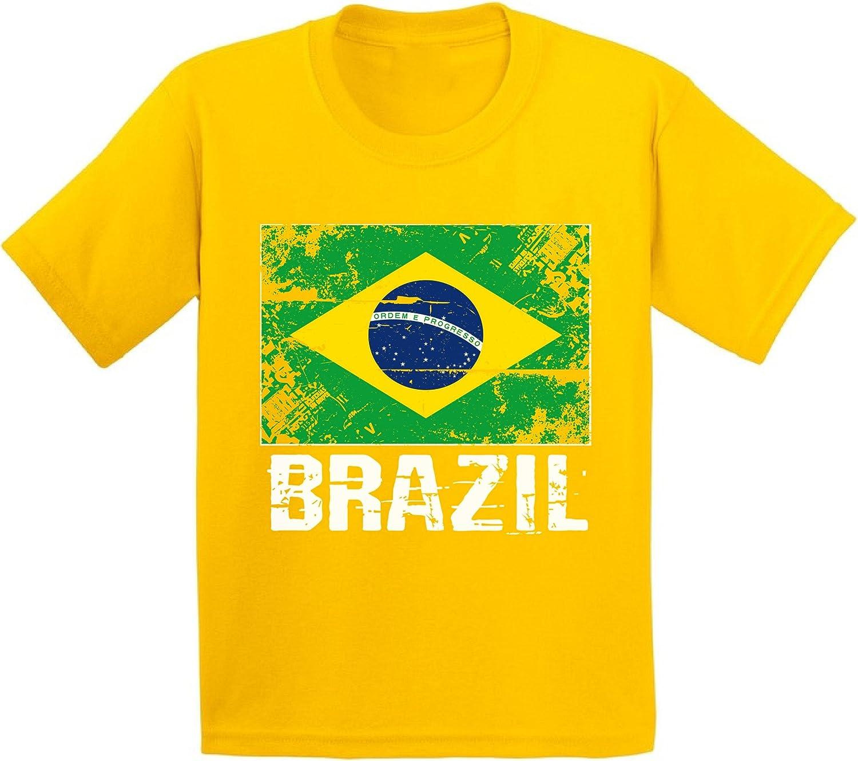 Awkward Styles Brazil Shirts for Youth Brazil Flag T-Shirts Kids Brazil Gifts